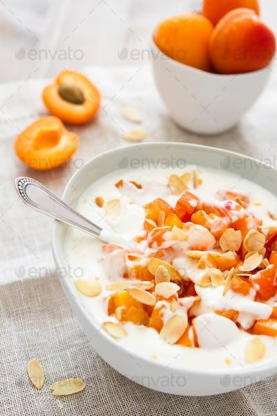 Yogurt With Diced Apricots