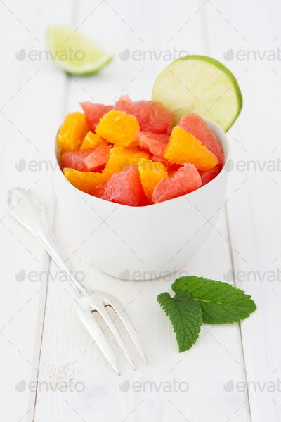 Fruit Salad With Grapefruits And Oranges