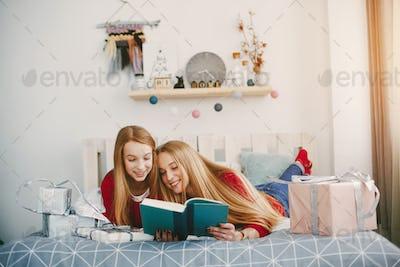 sisters at home
