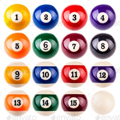 Pool ball collection