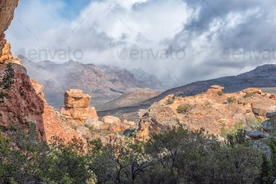 Landscape as seen from Stadsaal Caves in the Cederberg Mountains