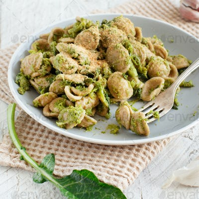 Orecchiette with turnip greens