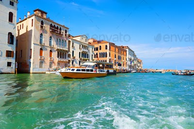 Touristic Venice in summer