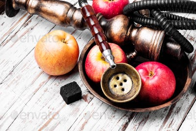 Persian hookah with aroma apple
