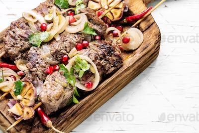 Shish kebab or shashlik