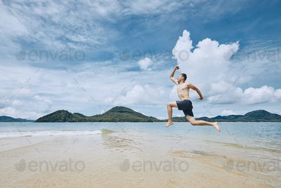 Jumping to the sea