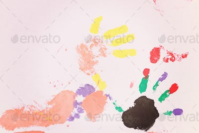 colorful hands and foots print