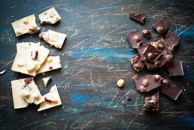 White and dark chocolate