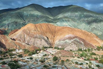 Multicolored mountains known as Cerro de los 7 colores