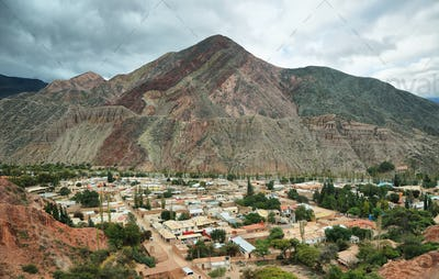 Red-colored mountain in Purmamarca