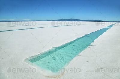 Salt water pool on the Salinas Grandes