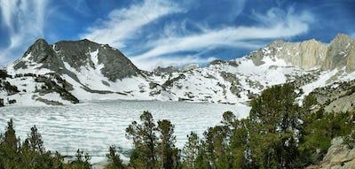 Iced Ruby lake, California