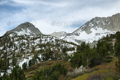 Sheer peaks from Mono pass trail