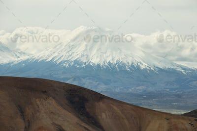 "Parinacota and Pomerape viewed from ""Cerro Milagro"""