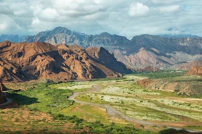 Colorful mountains of Quebrada de las Conchas, Argentina