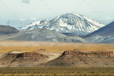 View of mountains and rock formations in Sico Pass