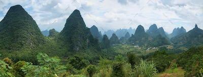 Karst mountains around Yangshuo