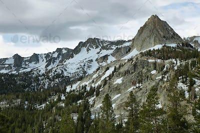 Crystal crag in Mammoth lakes, California