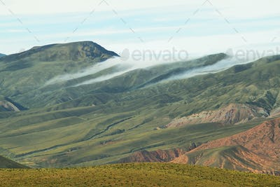 Clouds over valley near place known as Serrania del Hornocal