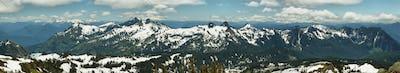Tatoosh Range and Mount Adams, Washington, USA