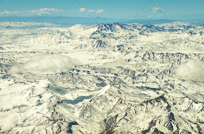 Aerial andean mountains landscape