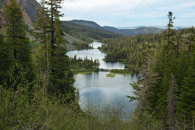 Rewarding views of Little valley lakes
