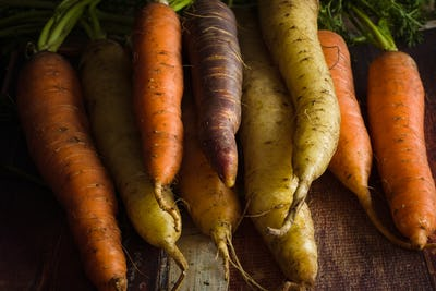 Heirloom Rainbow Carrots