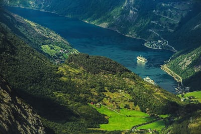 Geirangerfjord and the Village