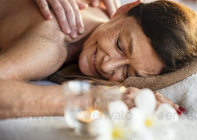 Mature woman at a luxurious spa