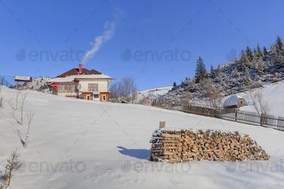 traditional house in Fundatica village, Romania