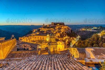 Sunrise at Ragusa Ibla in Sicily