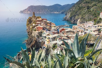 Vernazza town in the Cinque Terre in summer