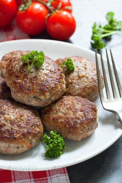 Fresh fried cutlets