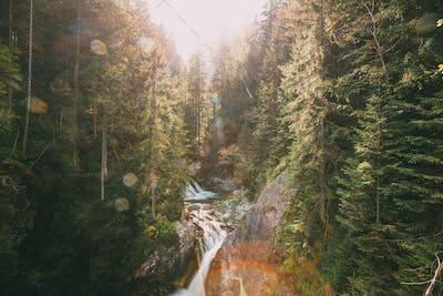 Tatra National Park, Poland. Waterfall Wodogrzmoty Mickiewicza I