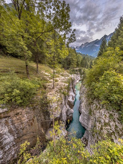 Soca river Gorge Slovenia