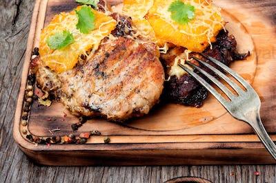Juicy grilled fillet steak