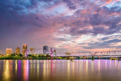Little Rock, Arkansas, USA skyline on the Arkansas River