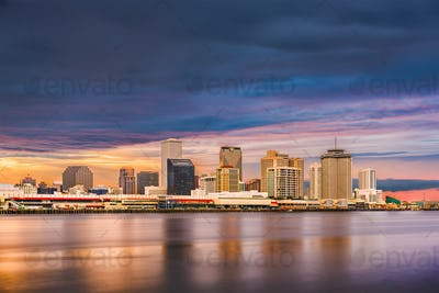 New Orleans, Louisiana, USA downtown city skylin