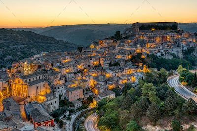 The beautiful old part of Ragusa in Sicily