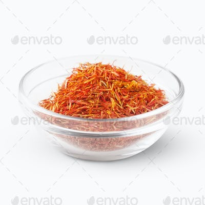 Saffron threads bowl