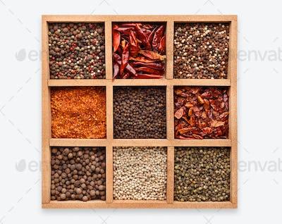 Spices shopwindow concept