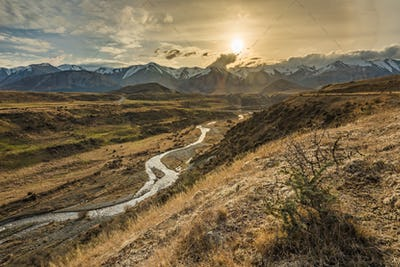 Cave Stream Scenic Reserve during sunset, South Island, New Zeal