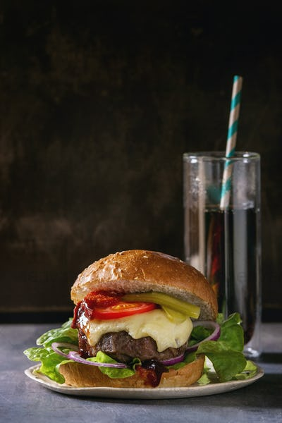 Homemade big burger