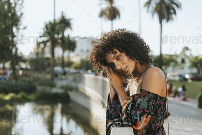Beautiful woman in Los Angeles