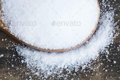 Salt in a Wooden Spoon
