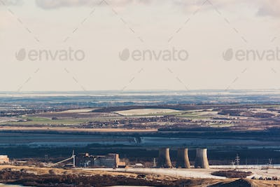 smoke pollution industrial tube of thermal station