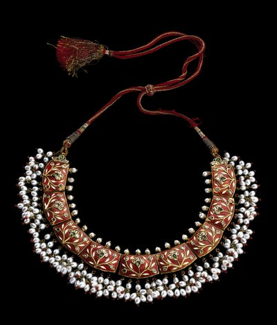 Beautifull necklace on black background
