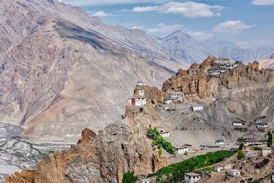Dhankar gompa Buddhist monastery  in Himalaya