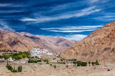 Likir Gompa Tibetan Buddhist monastery in Himalayas