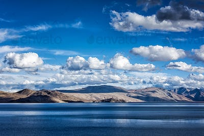 Lake Tso Moriri in Himalayas. Ladakh, India